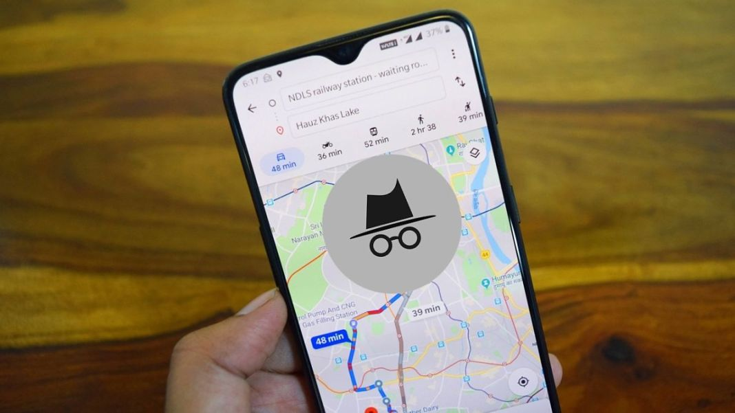 Modo incógnito de Google Maps