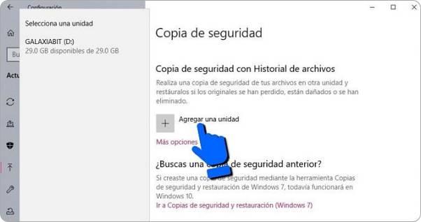 Cómo hacer copia de seguridad en Windows 10