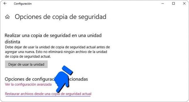 Cómo restaurar una copia de seguridad en Windows 10