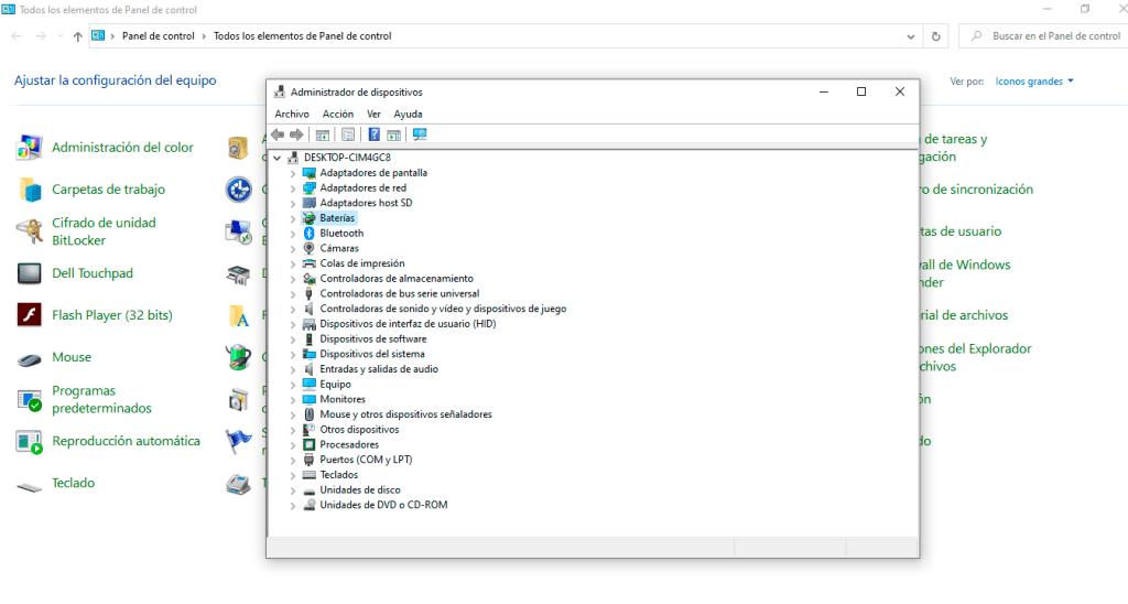 Actualizar controlador de dispositivo en Windows 10