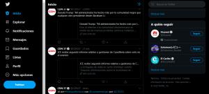 Como cambiar el modo de color y como agregar otra cuenta en Twitter