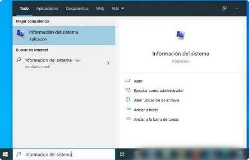 Abrir Información del sistema para saber el model de mi laptop o PC.