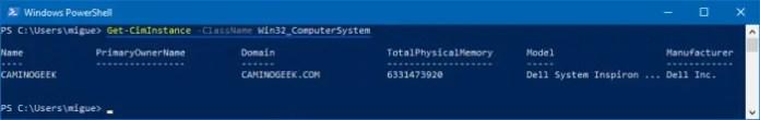Cómo ver el modelo de mi notebook o PC en PowerShell.