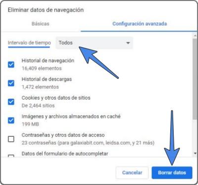 Cómo borrar todo el historial de Google Chrome rápido
