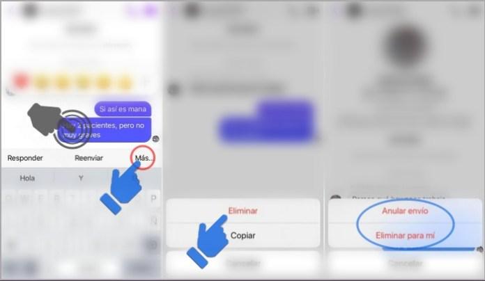 Cómo borrar mensajes de Messenger en iPhone