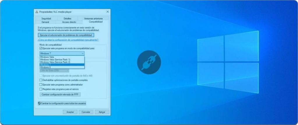 Activar el modo de compatibilidad de Windows 10