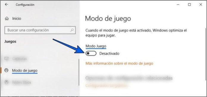 Desactivar el Modo de juego para solucionar la tecla Windows no funciona