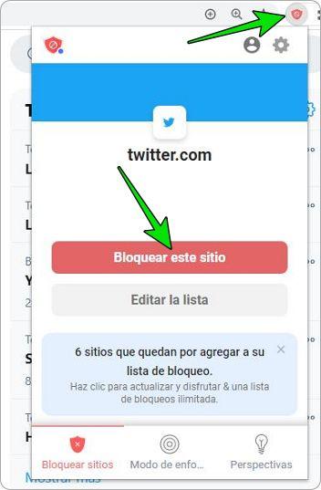 Bloquear páginas de internet con BlockSite en Google Chrome