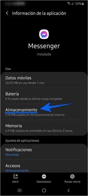 Cómo cerrar sesión en Messenger en el celular Android