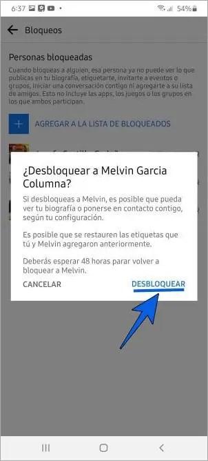 Cómo desbloquear a una persona en Facebook desde mi celular