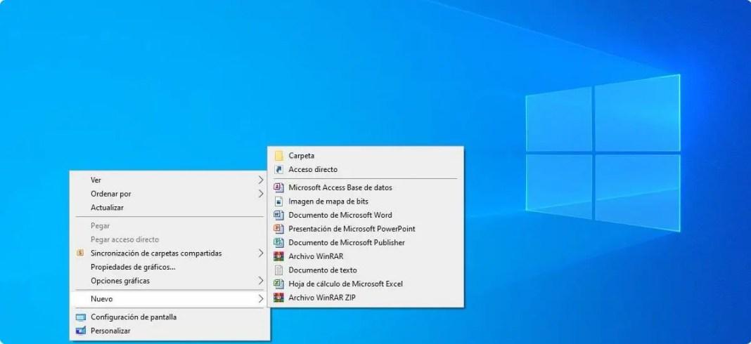 Activar o desactivar el menú contextual de Windows 10