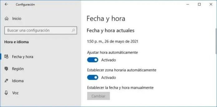 No puedo activar Windows Defender. Actualizar fecha y hora.