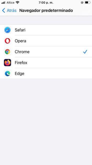 Cómo cambiar el navegador predeterminado en iPhone