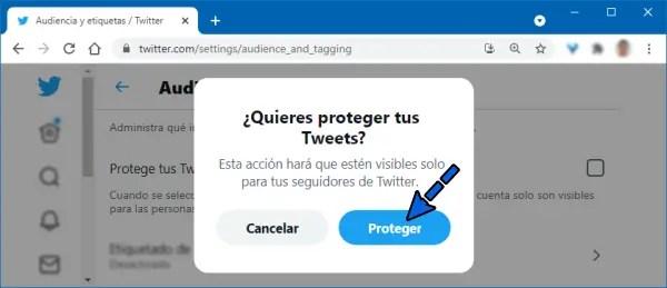 Cómo poner Twitter privado