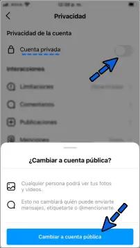 Cómo poner el perfil publico en Instagram