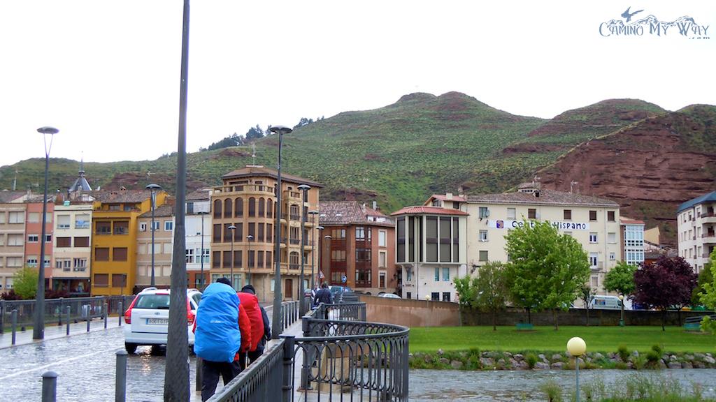 Entering Najera, Spain