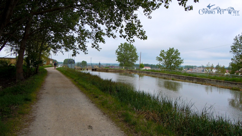The canal going into Fromista
