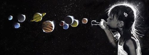 Burbujas planetas niña