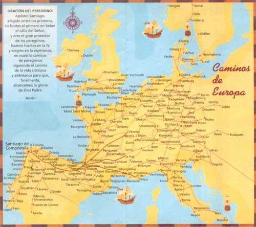 Jakobsweg Frankreich Spanien Karte.Wie Lang Ist Der Jakobsweg