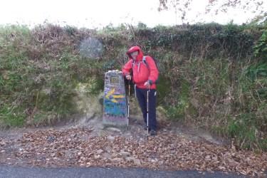 Dag 33 - ved 100 km mærket - en regnfuld dag