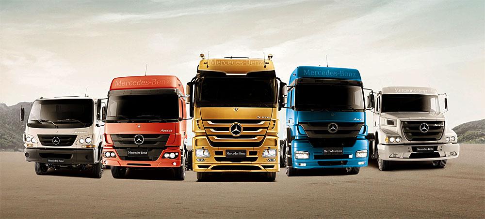 mercedes benz presento los camiones euro5