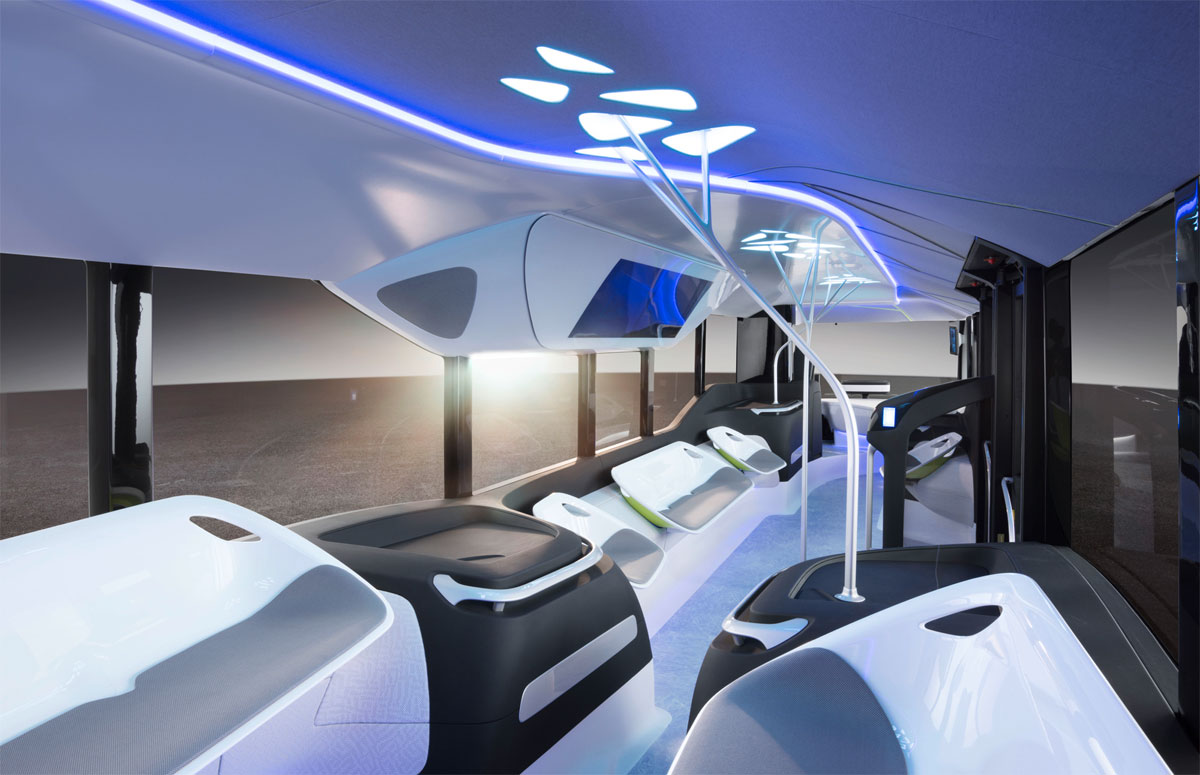 Future Bus de Mercedes-Benz interior
