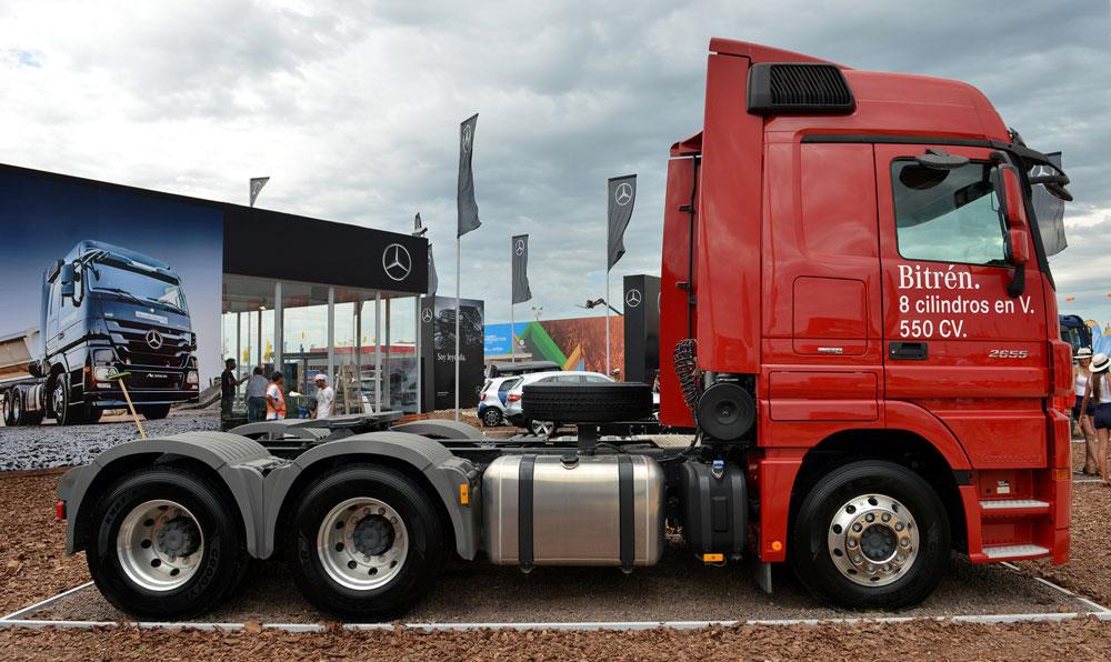 Camiones Mercedes Benz estuvieron presente en Expoagro