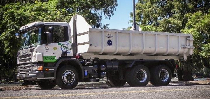 camion Scania propulsado por biodiesel