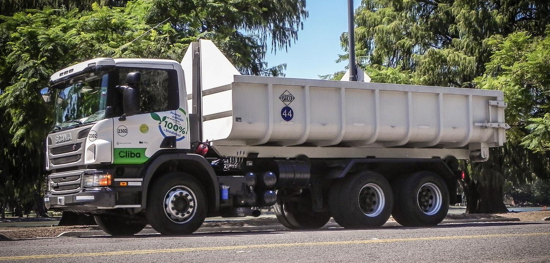 Scania con un camión propulsado por biodiesel