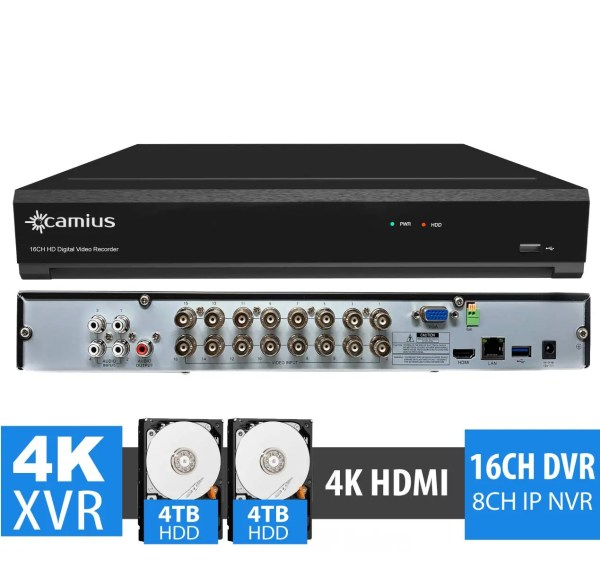 security camera DVR trivault4k2168 Camius