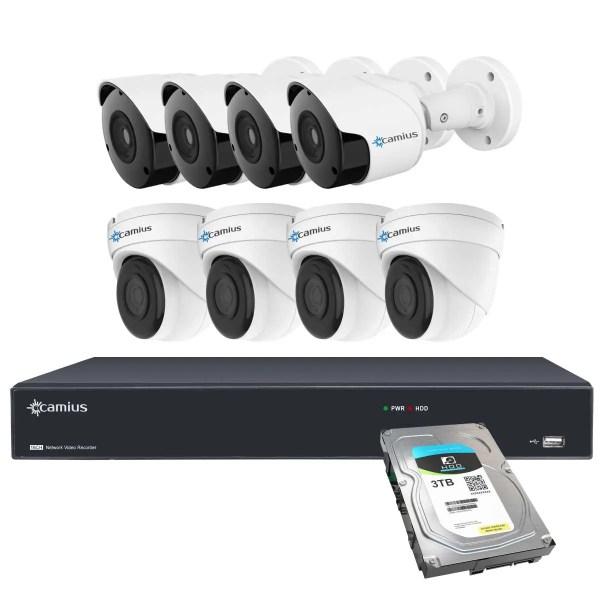 Camius 5mp poe security camera system 16PP4B4I3T