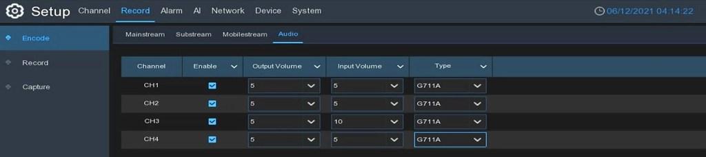 IPVault1128pR encoding audio web
