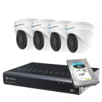 Camius dome security camera system 8P4I4T