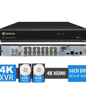 security camera dvr with hard drive 8TB Trivault4k2168 Camius