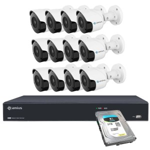 12 outdoor security camera system 16 channel nvr