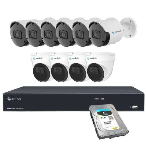 Camius 16CH NVR 10 camera system 3tb 16PN6B4IR3T