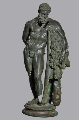La statua di bronzo di Ercole Curino, donata al santuario dal ricco armatore M. Attius Perticius Marsus.