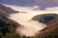 Gole del Melfa nella nebbia