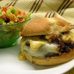 Bbq Grilling – Kickin Turkey Burger With Caramelized Onions And Spicy Sweet Mayo