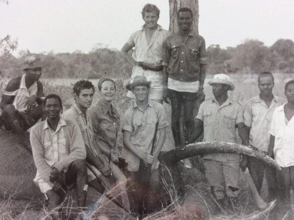 vintage photo of African hunt