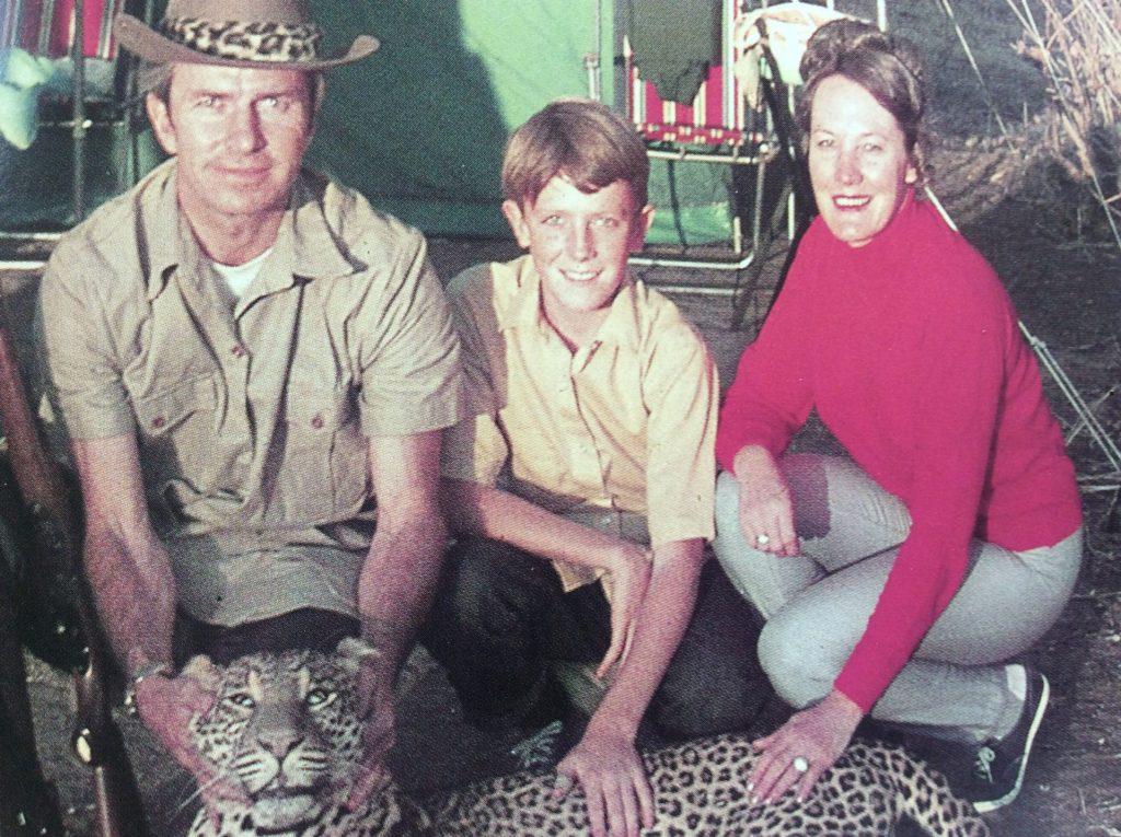 vintage photo of Africa hunt