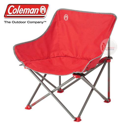 CM-21990 美國Coleman 輕鬆椅 紅 盤腿椅月亮椅休閒椅露營椅折疊椅 - 探險家戶外用品