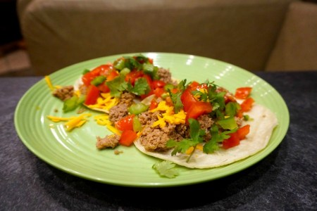 rv recipe turkey taco vegetarian camp cooking camping meal