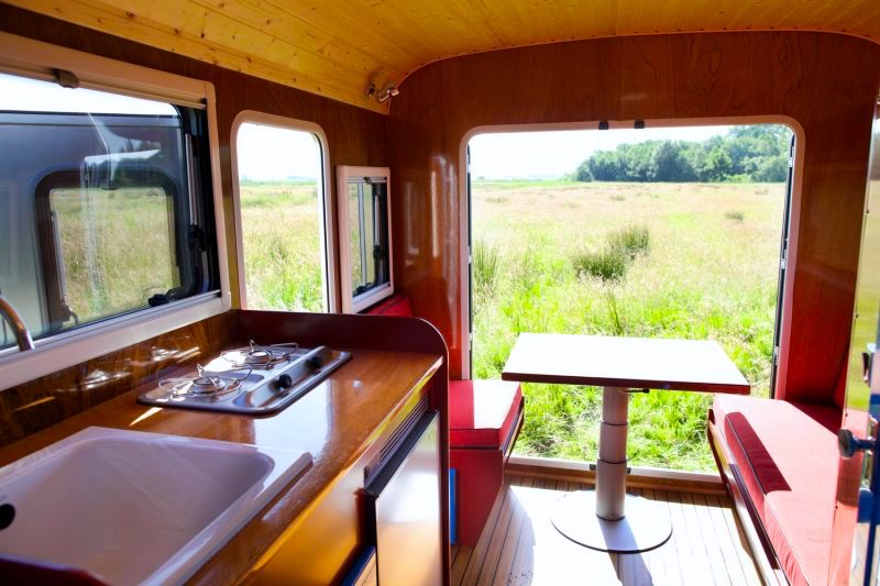 Yacht Rv Interior Wooden Kitchen Handmade Camper Van