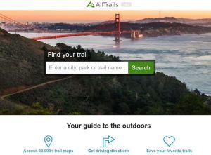 alltrails hiking app phone apps for rvers