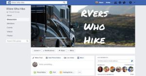facebook rv hiking groups for hikers