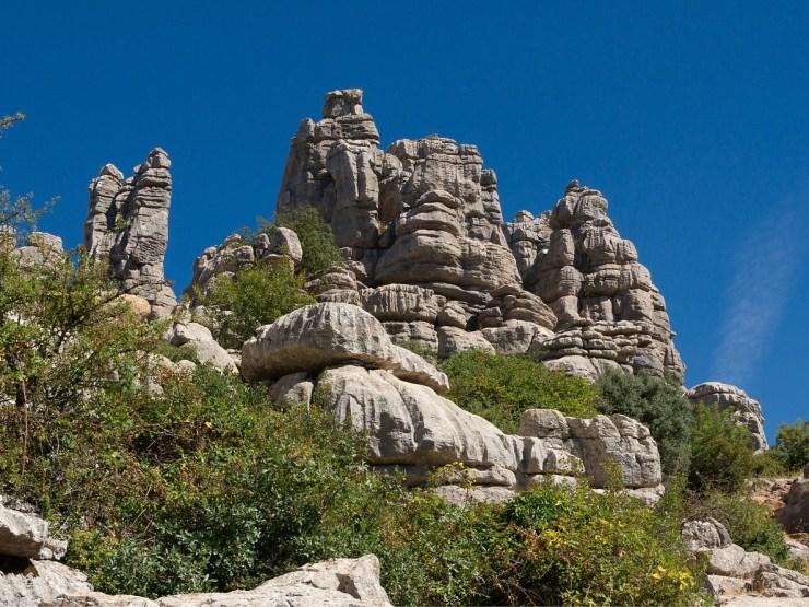 Felsige Landschaft in Andalusien