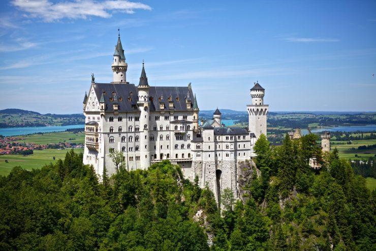 Panoramablick auf Schloss Neuschwanstein