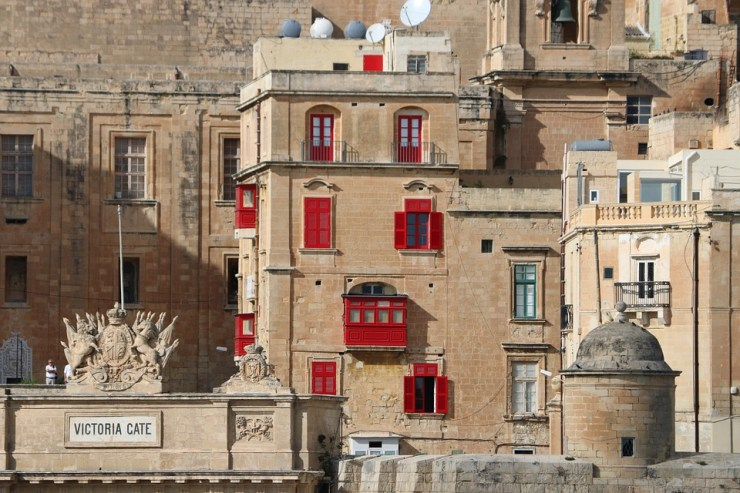 Häuser in Valletta