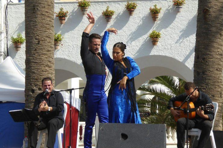 Ein Paar Flamenco-Tänzer.
